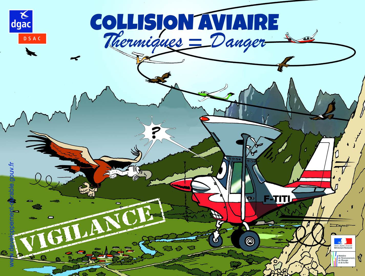 Collisions aviaire - Thermiques