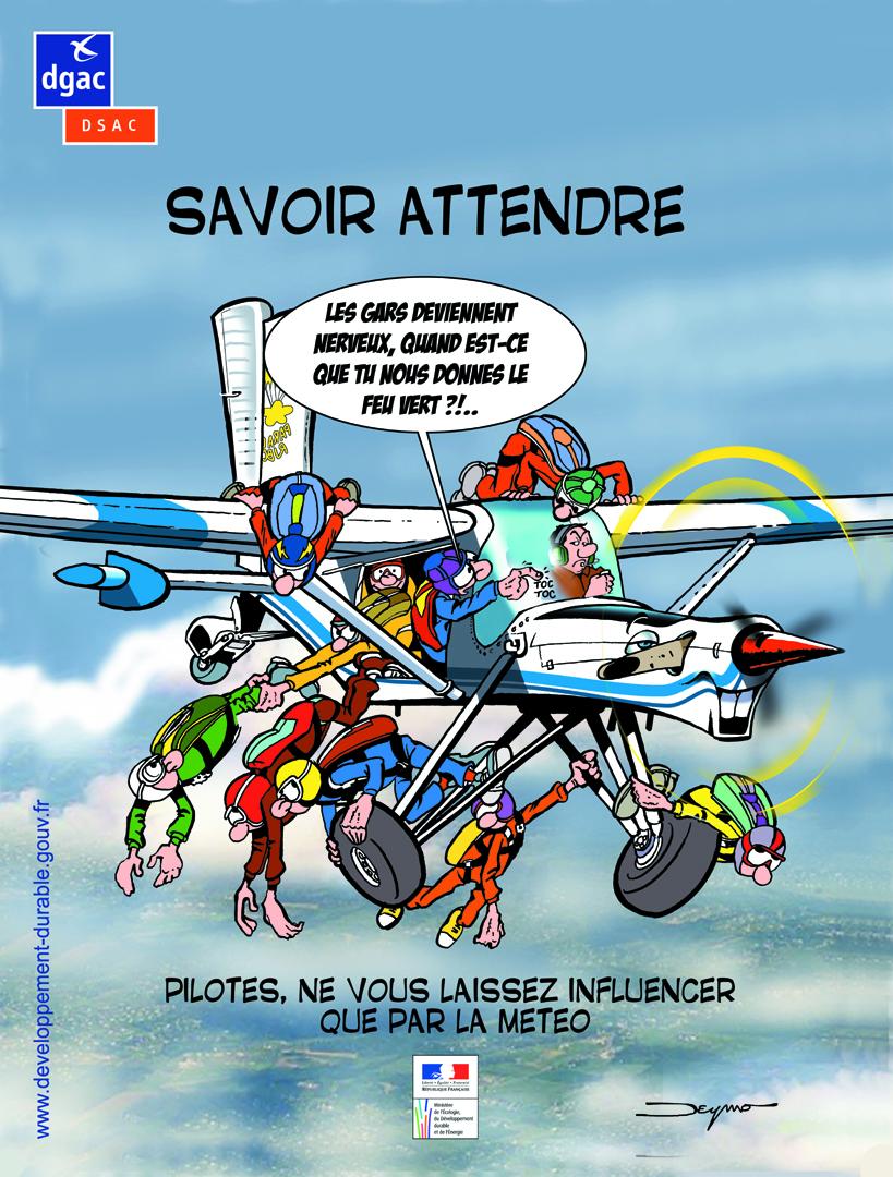 Parachutistes - Savoir attendre
